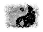 The Ying Yang sign painted on on white background — Stock Photo
