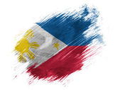 Philippine flag painted with brush on white background — Stock Photo