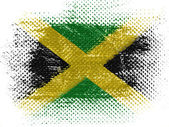 Jamaica flag on dotted surface — Stock Photo