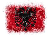 Albania. Albanian flag on white background — Stock Photo