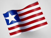 Liberia. Liberian flag — Stock Photo