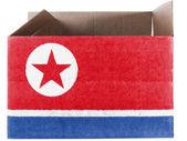 De vlag van Noord-korea — Stockfoto