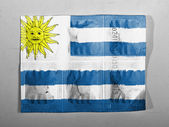 Drapeau de l'uruguay peint sur les pilules — Photo