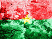 Burkina Faso flag painted dirty and grungy paper — Stock Photo