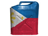 Philippine flag painted on gasoline can or gas canister — Stock Photo