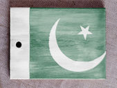 The Pakistani flag — 图库照片