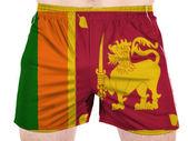 Sri Lanka flag painted on sport shirts — Stock Photo