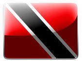 Trinidad and Tobago flag painted on square interface icon — Stock Photo