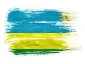 Ruanda flag on white background — Stock Photo