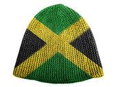 Jamaica flag painted on cap — Stock Photo