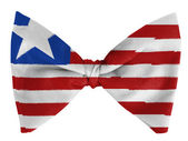 Liberia. Liberian flag on a bow tie — Stock Photo