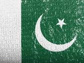 La bandera paquistaní — Foto de Stock