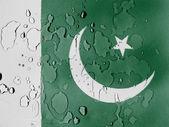A bandeira paquistanesa — Foto Stock