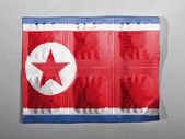 The North Korea flag — Stok fotoğraf