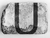U letter painted on brick — Stock Photo