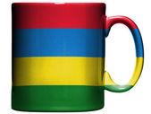 Drapeau mauritanie peinte sur la tasse de café ou une tasse — Photo