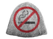 No smoking sign drawn at painted on cap — Foto Stock