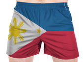 Philippine flag painted on sport shirts — Stock Photo