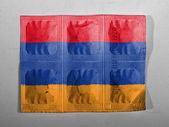 The Armenian flag — Foto Stock