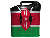 Kenya flag painted on gasoline can or gas canister — Stockfoto