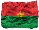 Burkina Faso flag painted on crumpled paper — Stock Photo