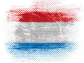 The Luxembourg flag — Stock Photo