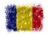 Der rumänien-flagge — Stockfoto