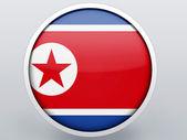 The North Korea flag — Stock Photo