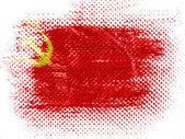 La bandera de la urss pintado en superficie punteada — Foto de Stock