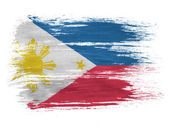 Philippine flag on white background — Stock Photo