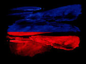 гаитянский флаг — Стоковое фото