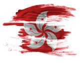 гонконг гонконг флаг на белой поверхности — Стоковое фото