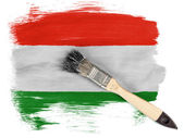 The Hungarian flag — Photo