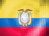 Ecuador flag on wavy plastic surface — Stock Photo