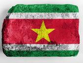 Surinamese flag painted on brick — Stock Photo