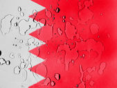 Bahrain. Bahraini flag covered with water drops — Stock Photo