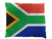 South African flag painted on pillow — Stock Photo