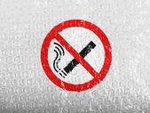 Aucun signe de fumer tracée à bubblewrap peinte sur — Photo