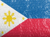 Philippine flag painted on bubblewrap — Stock Photo