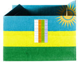 Ruanda flag painted on carton box or package — Stock Photo
