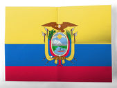Ecuador flag painted on simple paper sheet — Stock Photo