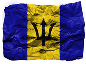 Barbados. Barbadian flag painted on crumpled paper — Stock Photo