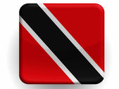 Trinidad and Tobago flag painted on glossy icon — Stock Photo