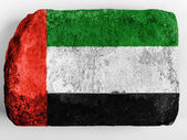 The UAE flag — Stock Photo