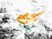Cyprus flag painted dirty and grungy paper — Stock Photo