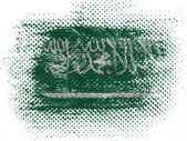 Saudi Arabia flag on dotted surface — Foto Stock