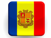 Andorra flag painted on glossy icon — Stock Photo