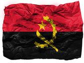 Angola. drapeau angolais peint sur papier froissé — Photo