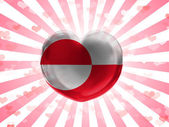 The Greenland flag — Stock Photo