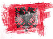 Albania. Albanian flag painted with watercolor on paper — Stock Photo